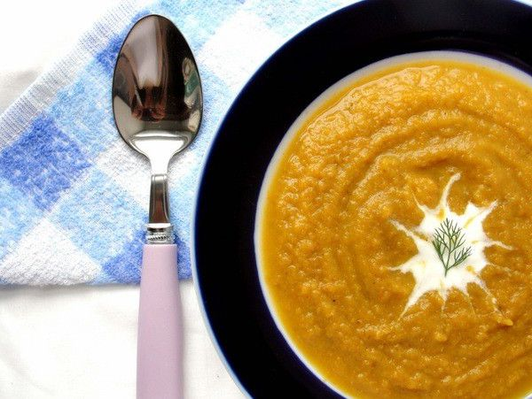 Carrot soup with sorrel