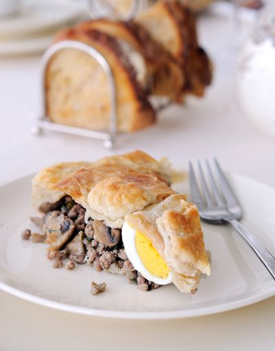 Layer Cake with buckwheat and mushrooms