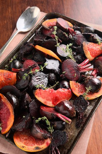 Beetroot salad with grapefruit