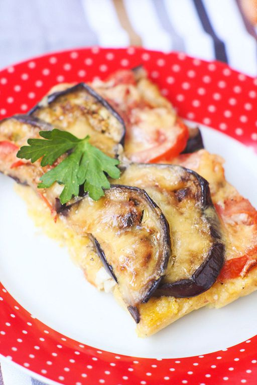 Baked polenta with tomato and eggplant
