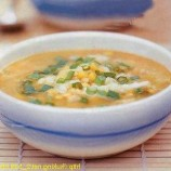 Corn soup with crab